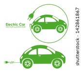 electric car design over white... | Shutterstock .eps vector #142861867