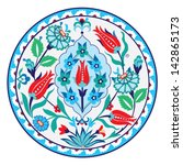 turkish ottoman style with blue ... | Shutterstock .eps vector #142865173