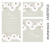 wedding invitation  thank you... | Shutterstock .eps vector #142870513