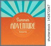 retro elements for summer... | Shutterstock .eps vector #142872367
