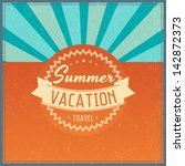 retro elements for summer... | Shutterstock .eps vector #142872373