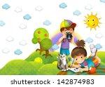 children   creative in the park ... | Shutterstock . vector #142874983