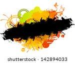 grunge nature banner | Shutterstock .eps vector #142894033