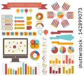 vintage info graphics set.... | Shutterstock .eps vector #142899073