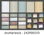 note paper  vector illustration ...   Shutterstock .eps vector #142900153