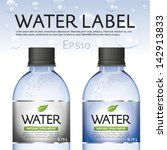 water label   bottle | Shutterstock .eps vector #142913833