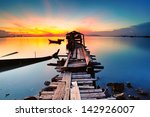 long fishing pier at jelutong... | Shutterstock . vector #142926007