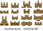 Set Of Vectorized Castles