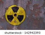 A Weathered Radioactive Sign O...