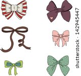 vintage bows hand drawn...