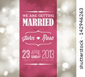 vector retro typography wedding ... | Shutterstock .eps vector #142946263