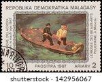 malagasy   circa 1987  a stamp... | Shutterstock . vector #142956067