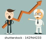 business man happy graph... | Shutterstock .eps vector #142964233