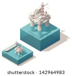 vector isometric oil rig with... | Shutterstock .eps vector #142964983