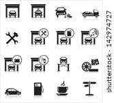 icons garage  washing  painting ... | Shutterstock .eps vector #142974727