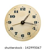 closeup of old clock face... | Shutterstock . vector #142995067