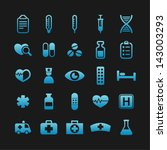medicine icons for web | Shutterstock .eps vector #143003293