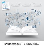 book with drawing charts and... | Shutterstock .eps vector #143024863