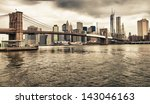 the brooklyn bridge and lower... | Shutterstock . vector #143046163