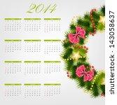 2014 new year calendar vector... | Shutterstock .eps vector #143058637
