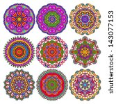 circle lace ornament  round... | Shutterstock .eps vector #143077153