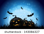 halloween party background with ... | Shutterstock . vector #143086327