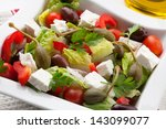 refreshing crispy greek salad... | Shutterstock . vector #143099077