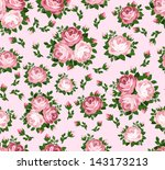 seamless pattern with pink... | Shutterstock .eps vector #143173213