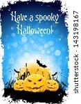 grungy halloween background... | Shutterstock . vector #143198167