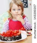 the little blue eyed girl... | Shutterstock . vector #143200207
