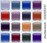 glass buttons vector set | Shutterstock .eps vector #143205157