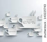 abstract cafe paper graphics | Shutterstock .eps vector #143225743