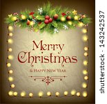 christmas frame | Shutterstock .eps vector #143242537