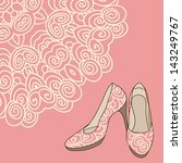 vector shoes with lace pattern | Shutterstock .eps vector #143249767