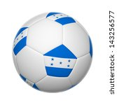 flags on soccer ball of honduras | Shutterstock . vector #143256577