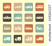 set of car icon | Shutterstock .eps vector #143261227