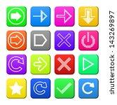 apps navigation flat icons set...