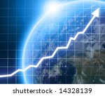 arrow graph going up with... | Shutterstock . vector #14328139