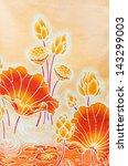 Lotus Pattern Paint On A Batik...