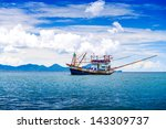 Fishing Ship In Andaman Sea...