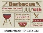 summer barbecue vector... | Shutterstock .eps vector #143315233