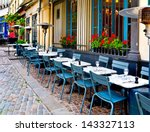 french restaurant   tables and... | Shutterstock . vector #143327113