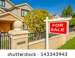 house for sale real estate sign ... | Shutterstock . vector #143343943