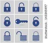 Icons Padlocks. Vector Set....