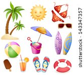 summer elements isolated on... | Shutterstock .eps vector #143347357