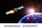 man made satellite  | Shutterstock . vector #143353327