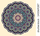 circle lace ornament  round... | Shutterstock . vector #143369287