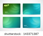 set of vector business cards ... | Shutterstock .eps vector #143371387