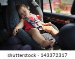 Toddler Girl Sleeping In Child...