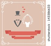 wedding invitation card in... | Shutterstock .eps vector #143386633